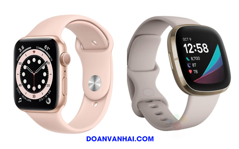 So sánh Apple Watch Series 6 với Fitbit Sense