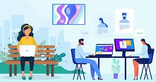 Participate in remote work for a company