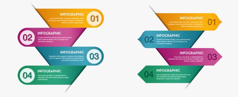 mẫu infographic :Số, các bước