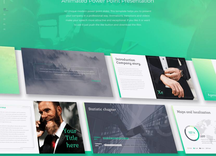 Mẫu PowerPoint 'Xe' miễn phí cho doanh nghiệp hiện đại