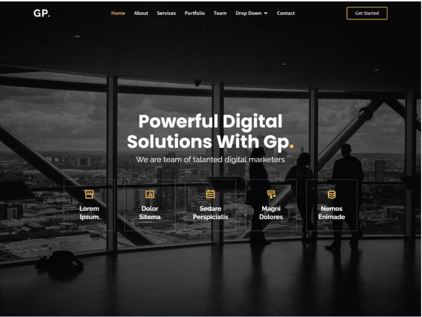 Gp - Mẫu Bootstrap HTML đa năng