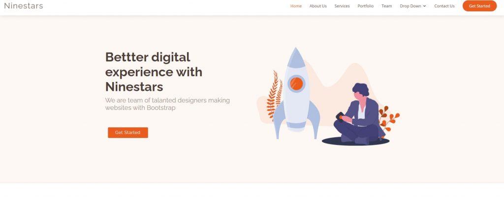 Ninestars - Chủ đề Bootstrap 3 miễn phí