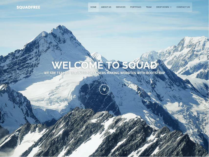 Squadfree - Mẫu Bootstrap miễn phí