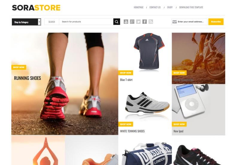 Sora Store free blogspot template