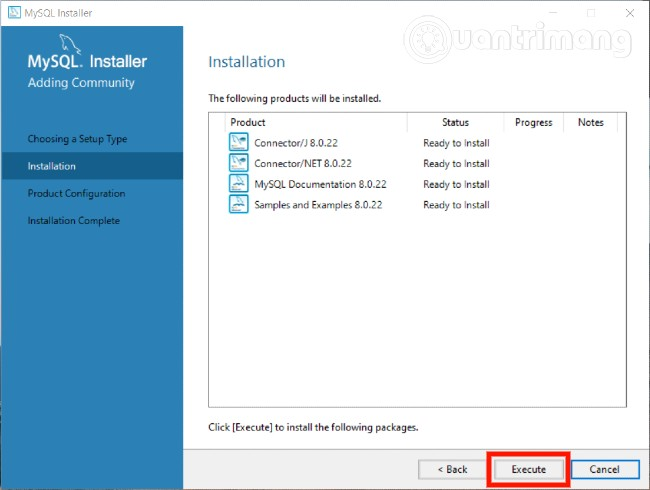 Ở cửa sổ này, bạn nhấn Execute để tiến hành cài đặt các phần mềm tương thích