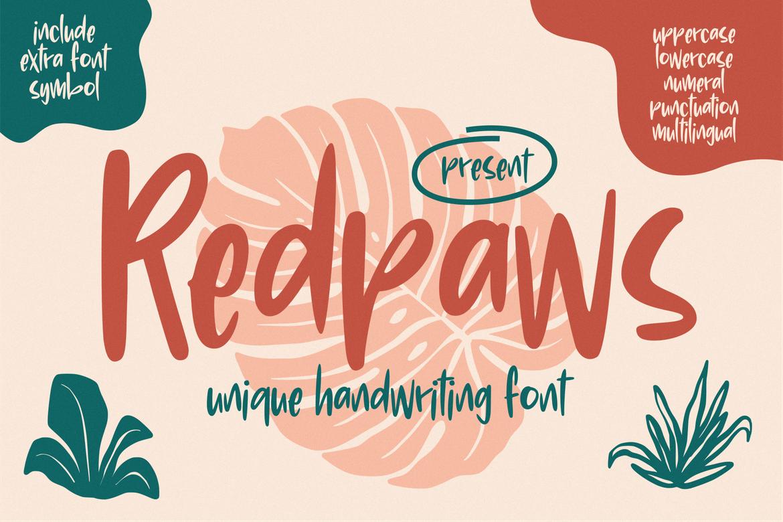 Redpaws - Phông chữ viết tay độc đáo