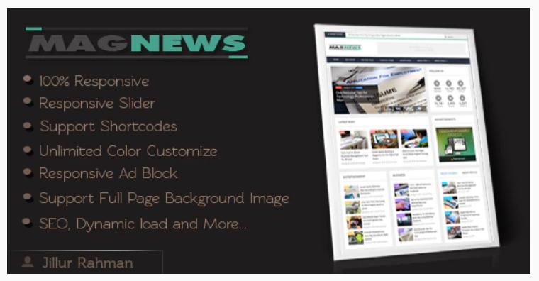 Copyright MagNews Template