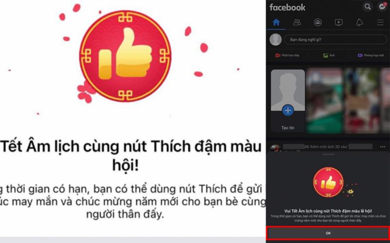 Cách có nút like đỏ năm mới 2021 trên Facebook : Hướng dẫn chi tiết