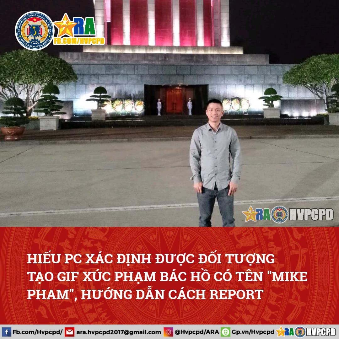Người tạo ra GIF xúc phạm Bác Hồ - Cách report chủ tài khoản trên Tenor