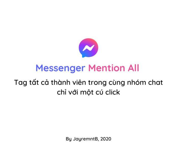 Tag tất cả thành viên trong cùng nhóm chat chỉ với một cú click