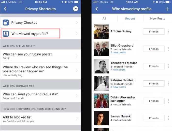 Cách kiểm tra xem ai hay vào facebook của mình (iPhone và Android)