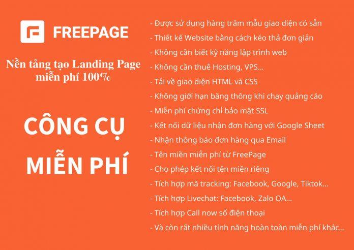 Tạo Landing Page miễn phí 100% - Website Landing Page miễn phí