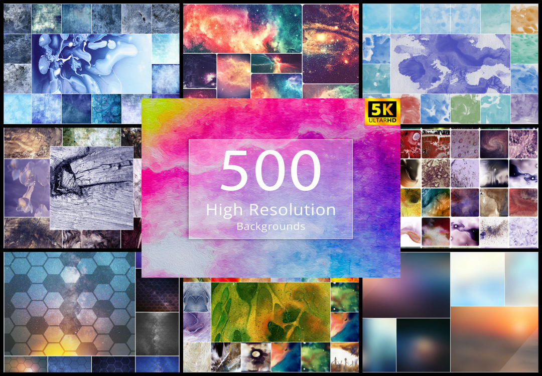 500+ High-Resolution Backgrounds
