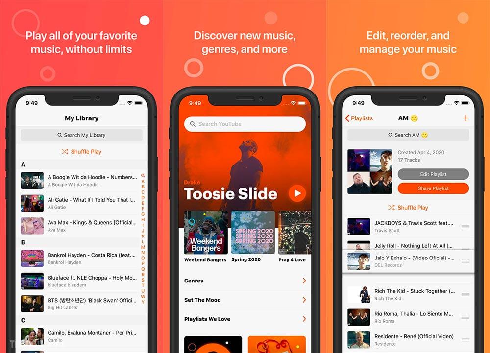 3 ứng dụng giúp bạn nghe nhạc Youtube khi tắt màn hình trên Iphone