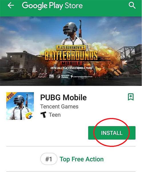 Nhấn vào CÀI ĐẶT bên cạnh biểu tượng PUBG Mobile